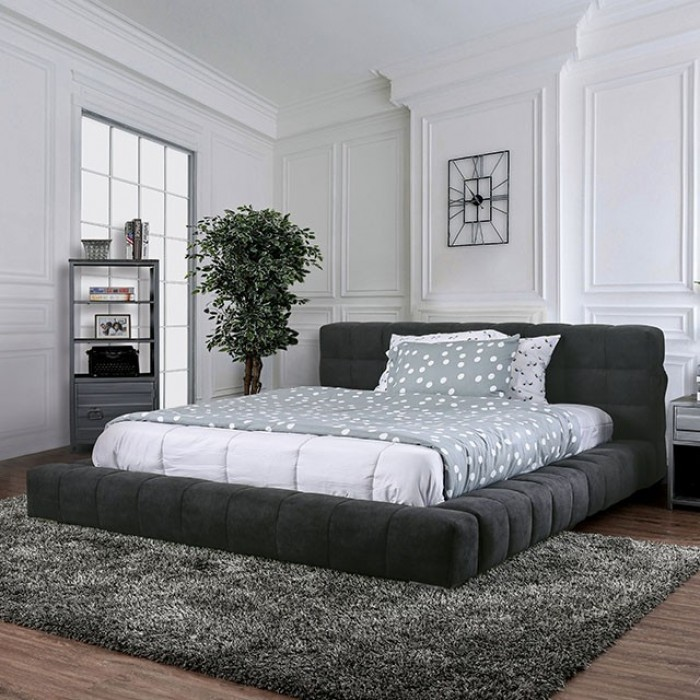 Monochromatic Stainless Steel Furniture Of America | Bed | Wolsey