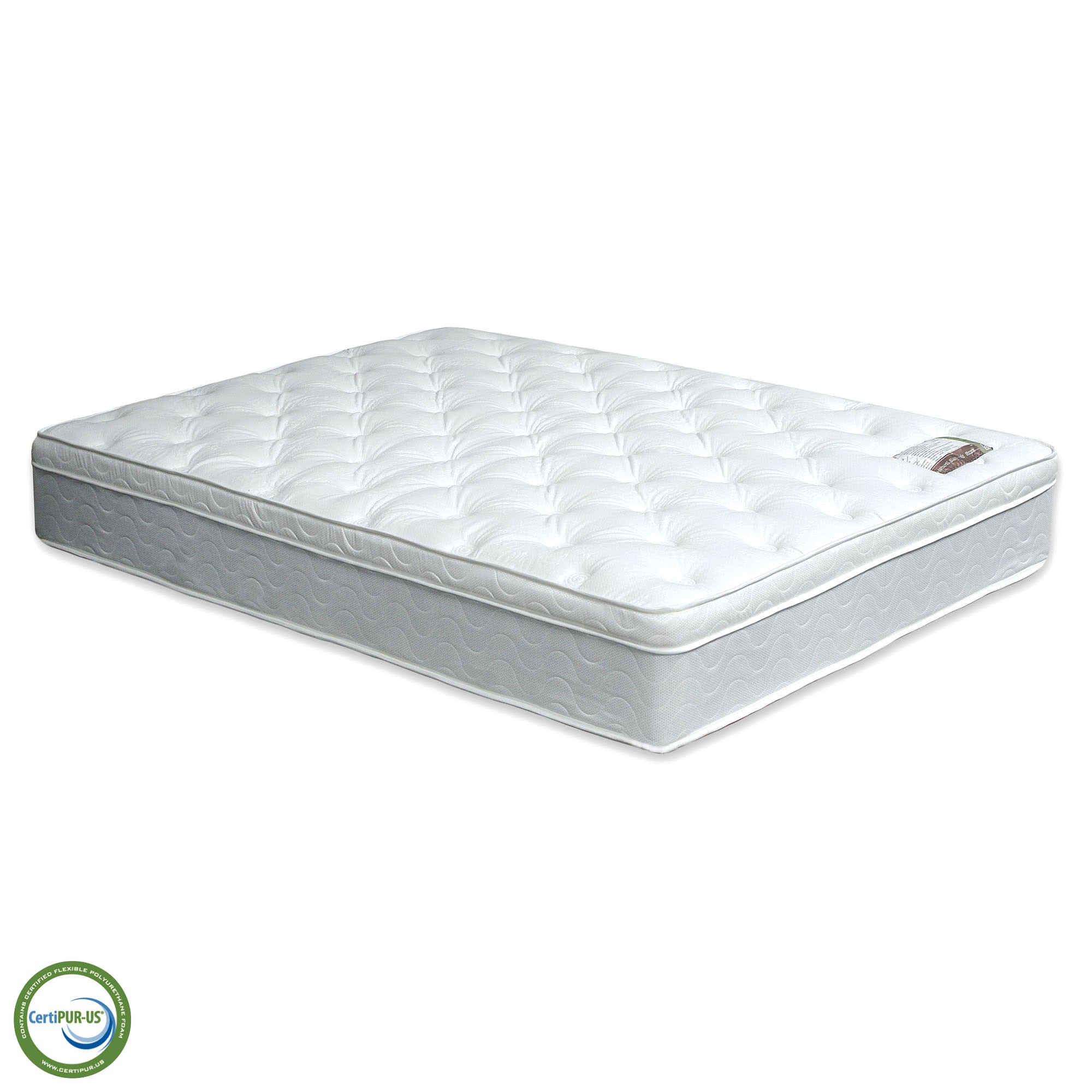 Budget Double Mattress Bird Of Paradise Euro Pillow Top Mattress Dm315 On A