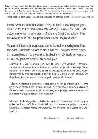 Foča 1992. - 1995. - dokumenti