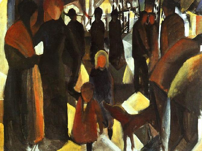 Poster Kunstdrucke In Memorial - August Macke