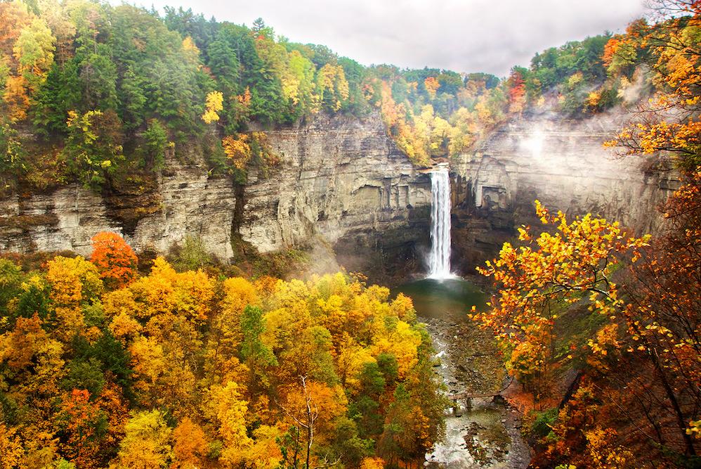 Michigan Fall Colors Wallpaper Fall Colors At Taughannock Falls Finger Lakes Region