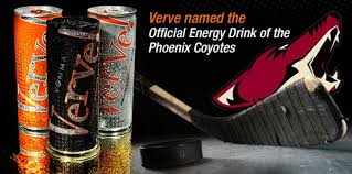 Pheonix Coyotes official Energy Drink is Verve