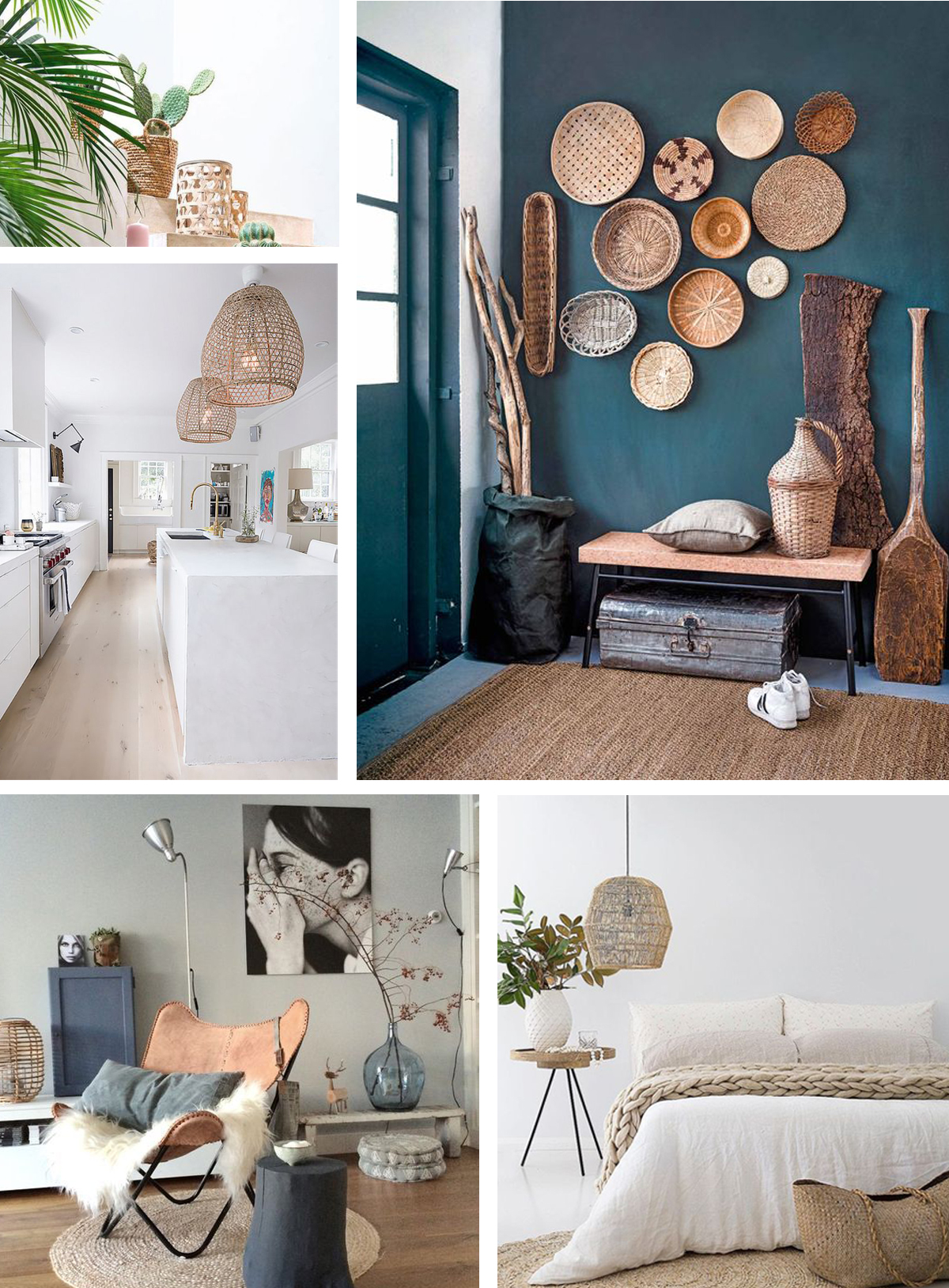 Interieur Grijs En Groen Interieurinspiratie Riet En Rotan In Je Interieur Follow Fashion