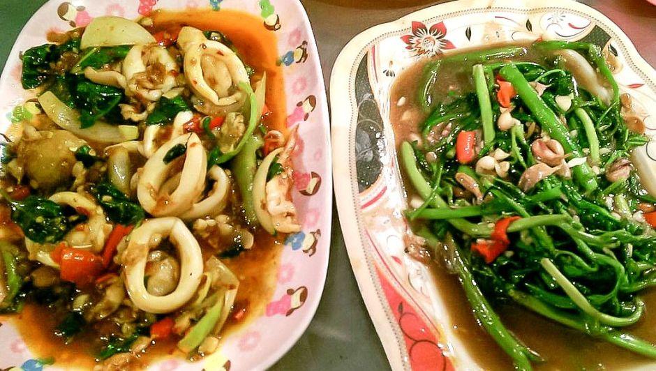 Seafood und Gemüse in Chinatown