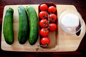 Rezept für ein Zucchini Baguette