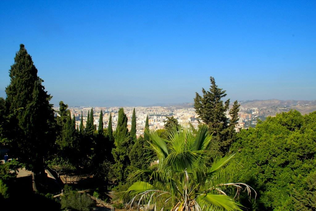 Ausblick über Malaga