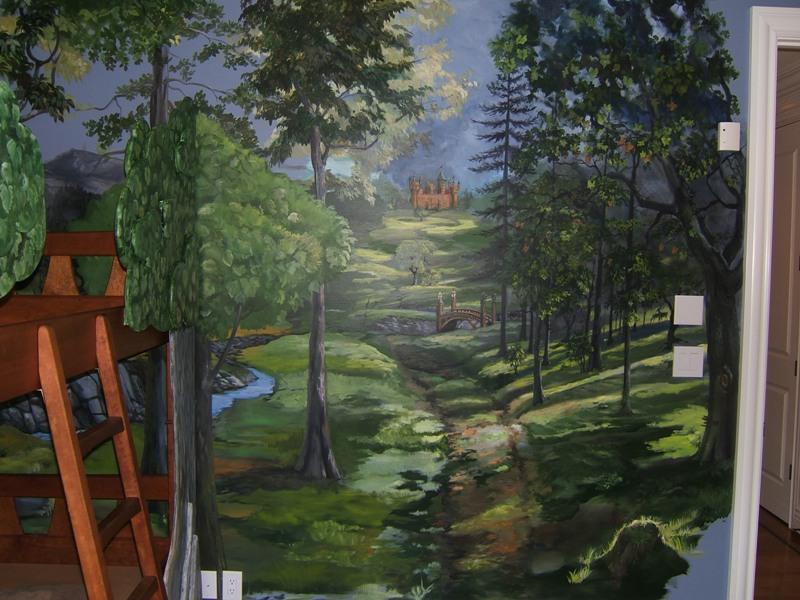 Castle Wall Wallpaper Kid Room 3d Hd Hand Painted Murals Fort Myers Florida Martha J Dodd