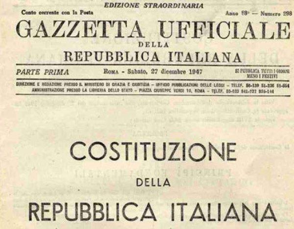 Gazzetta Ufficiale della Repubblica Italiana Costituzione della Repubblica Italiana