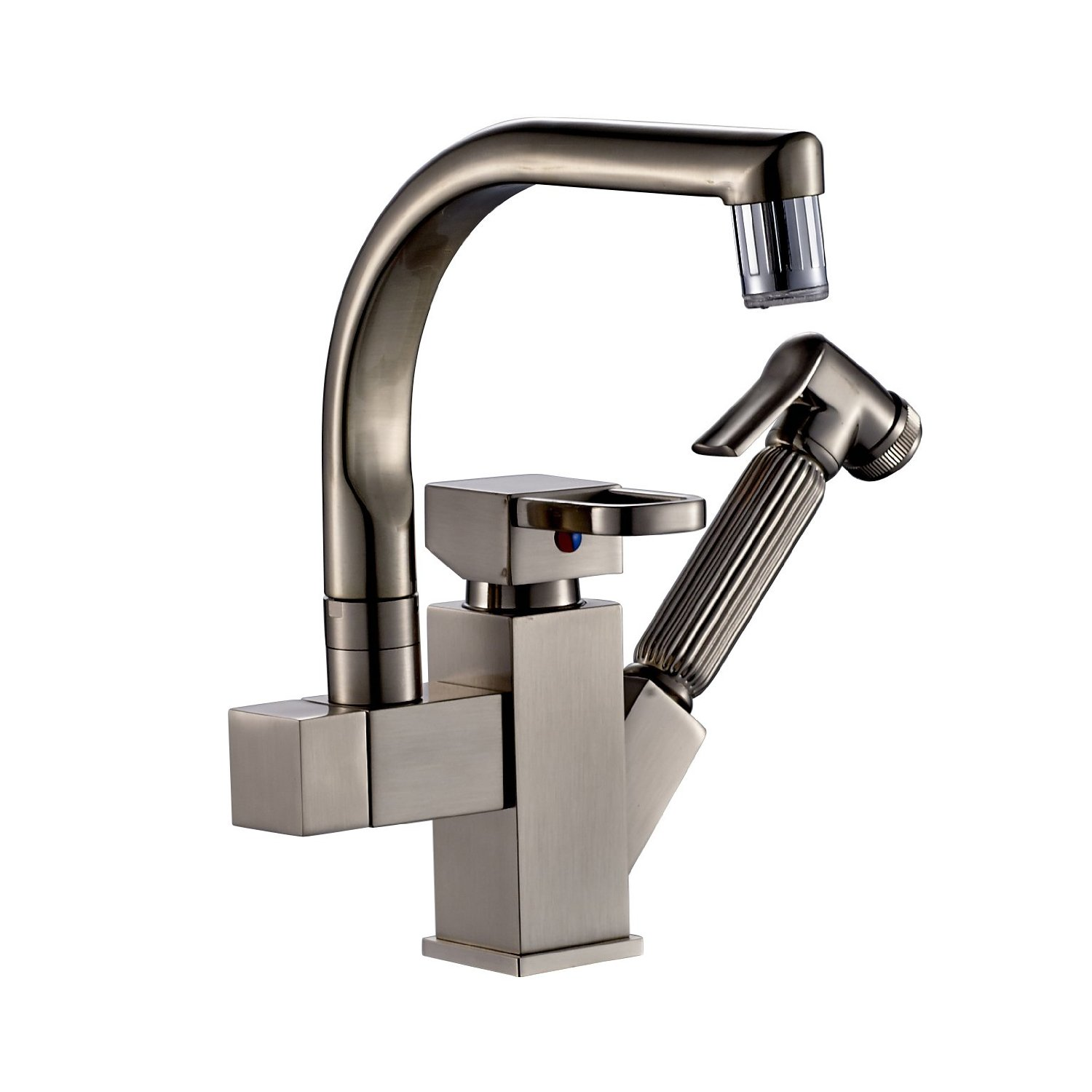 Led Faucets Courtenay Brushed Nickel Led Kitchen Sink Faucet With Pull