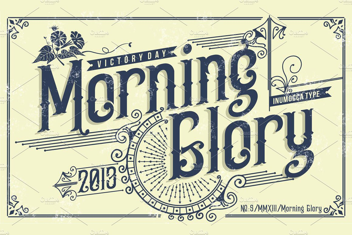 Calligraphy Fonts Victorian Morning Glory Fontlot
