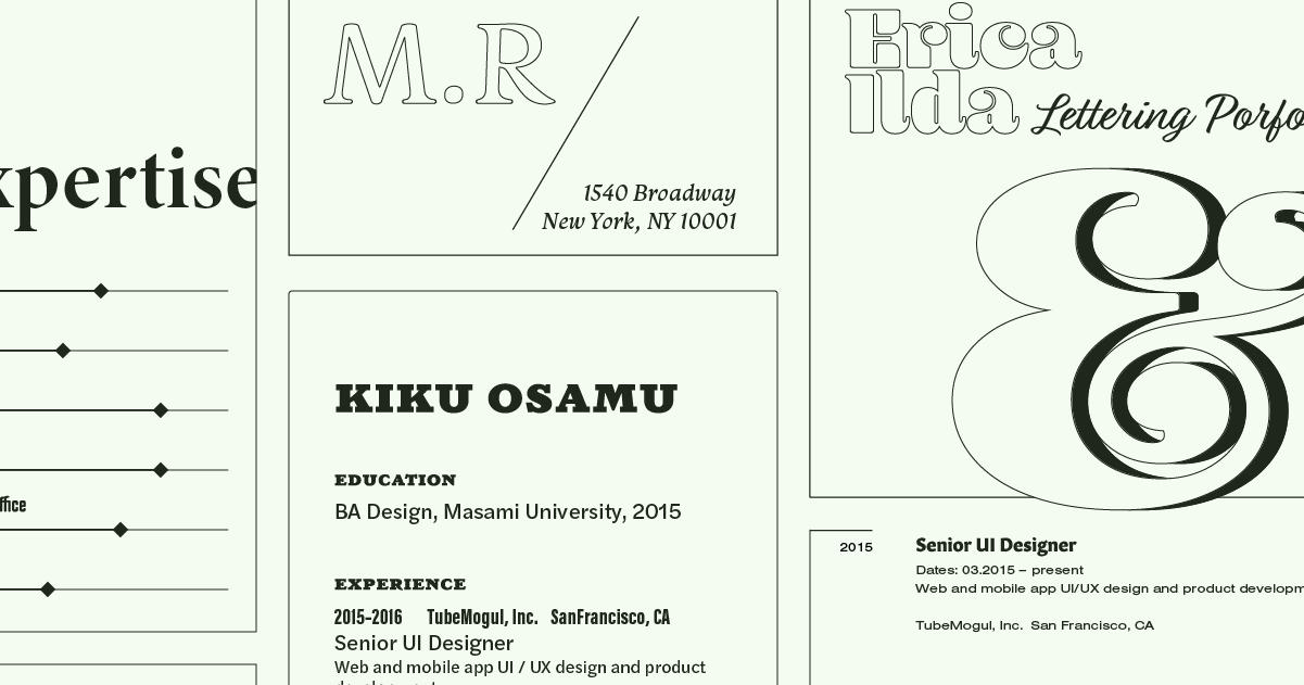 Browse fonts in the Résumé Fonts font pack Adobe Fonts Adobe Fonts