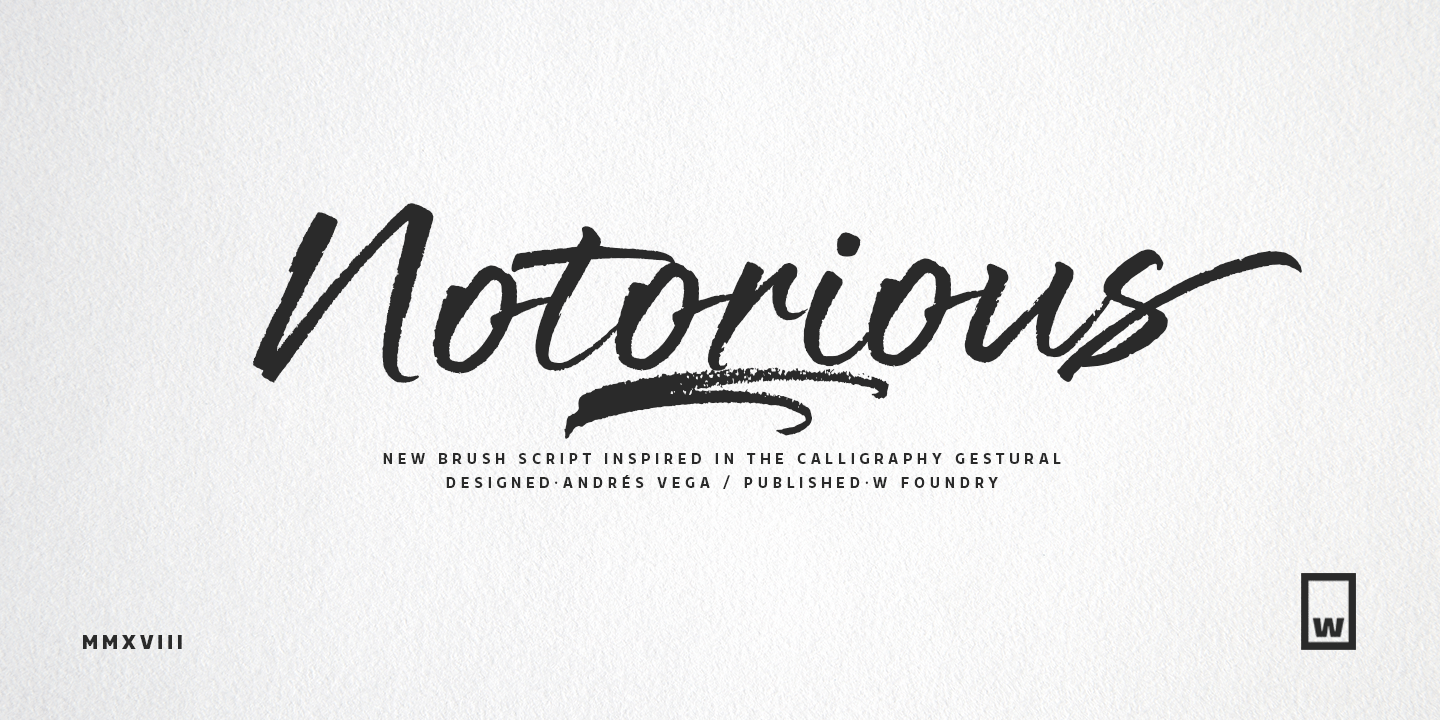 Calligraphy Fonts W Fontspring Notorious Fonts By W Foundry
