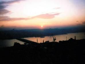ガラタ塔からの夕日