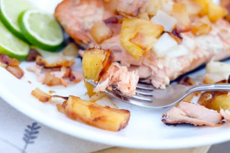 Grilled Salmon with Pineapple Salsa Image