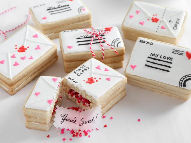 Love Letter Cookies Recipe Heather Baird Food Network