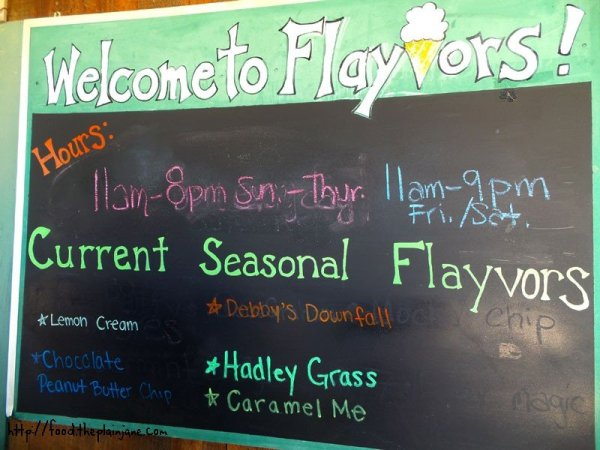 seasonal flavors at flayvors - hadley, ma