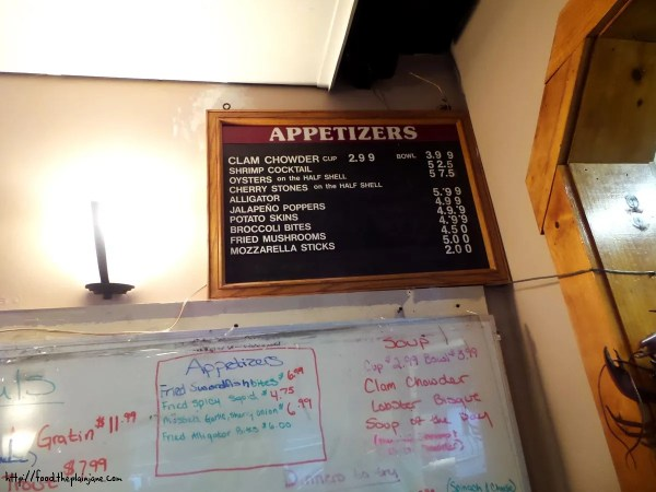 Appetizer Menu - SS Lobster, Fitchburg, MA