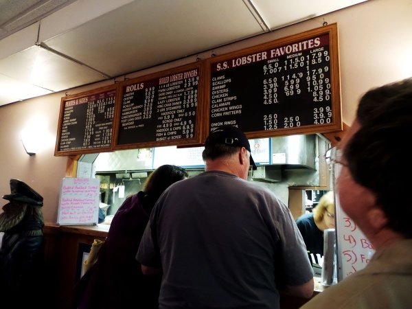 Menu Board - SS Lobster, Fitchburg, MA