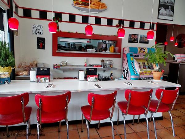 Countertop dining at Suzy Q's Diner - Escondido, CA
