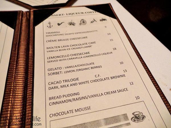 Dessert Menu / Greystone Steakhouse   San Diego, CA   This Tasty Life