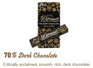 Divine 70% dark chocolate bar