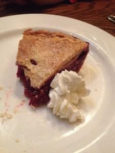 Unbelievably succulent raspberry pie at Shaw's
