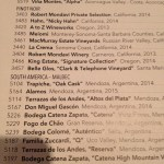 Fogo's impressive wine list