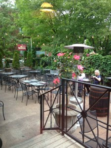 Trattoria Gianni's charming enclosed patio