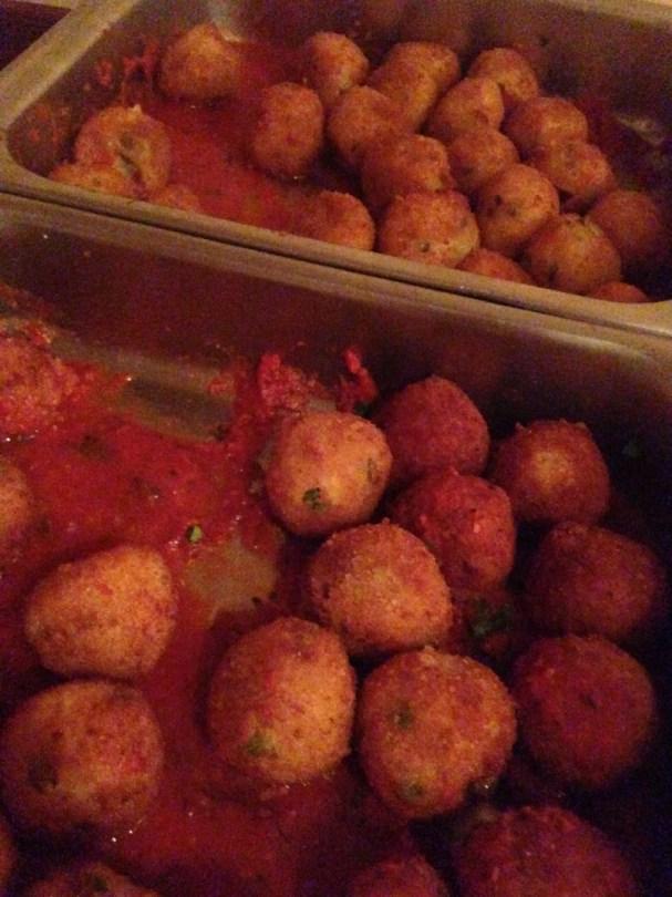 Deep-fried rice balls