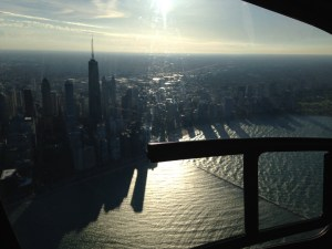 Chicago downtown from the sky