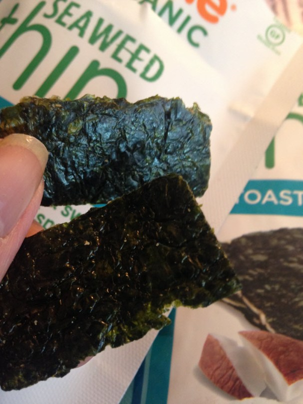 Crispy seaweed thins, toasted coconut treat