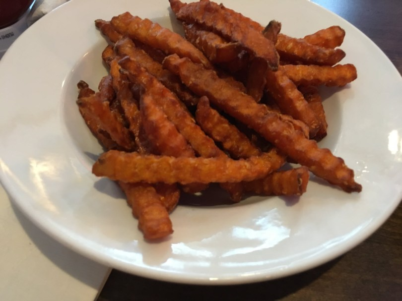 Tasty, crisp sweet tater fries