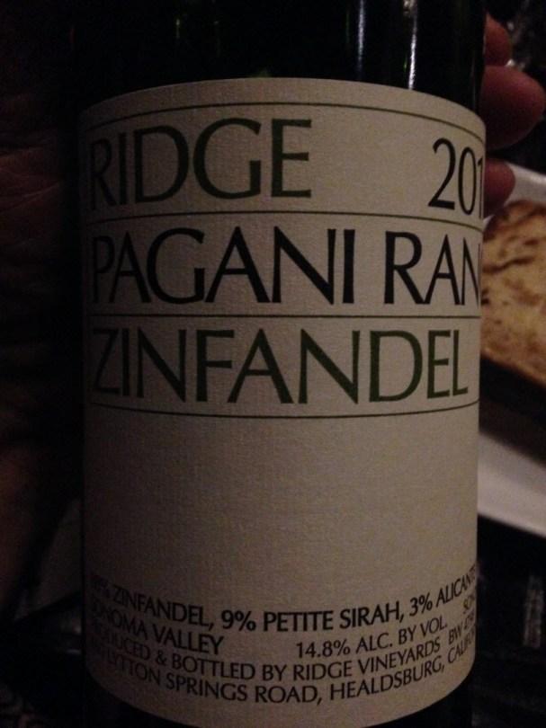Sonoma Ridge 2016 Pagani Ranch zinfandel