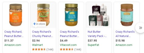 Crazy RIchards butter prices - all over the place