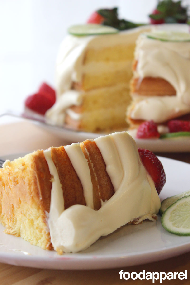 Key Lime Torte (Cake) with Strawberries: Quick 'N Easy Style