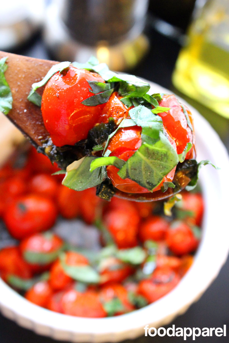 Roasted Grape Tomato Salad with Herbs: Quick 'N Easy Style
