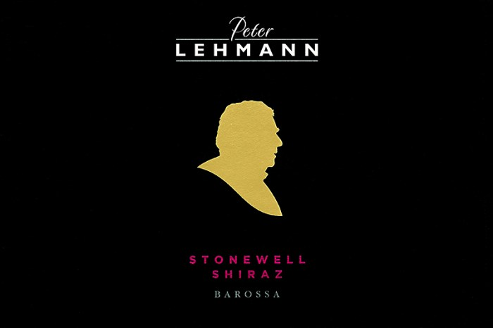 Black label of Peter Lehman Shiraz Wine