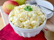 Classic Potato Salad as made by www.iowagirleats.com Give a visit and check out all of their wonderful recipes.