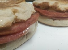 Taylor Ham and Cheese on English Muffin