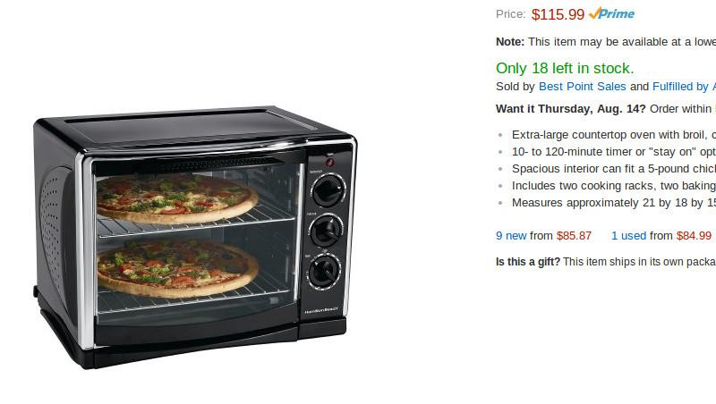 Hamilton Beach 31197 Countertop Toaster Oven