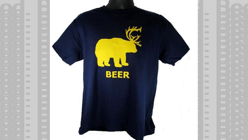 Part Bear, Part Deer, All Beer Tshirt.