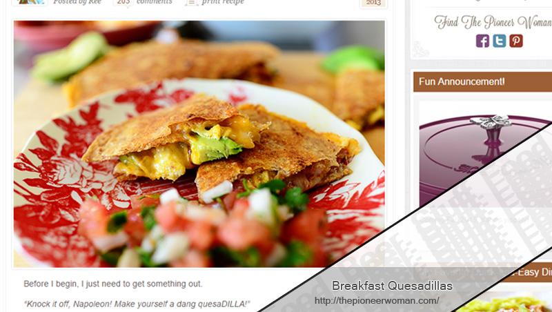 Breakfast Quesadillas by The Pioneer Woman