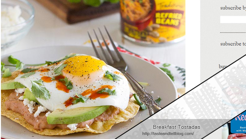Breakfast Tostadas by Taste and Tell Blog