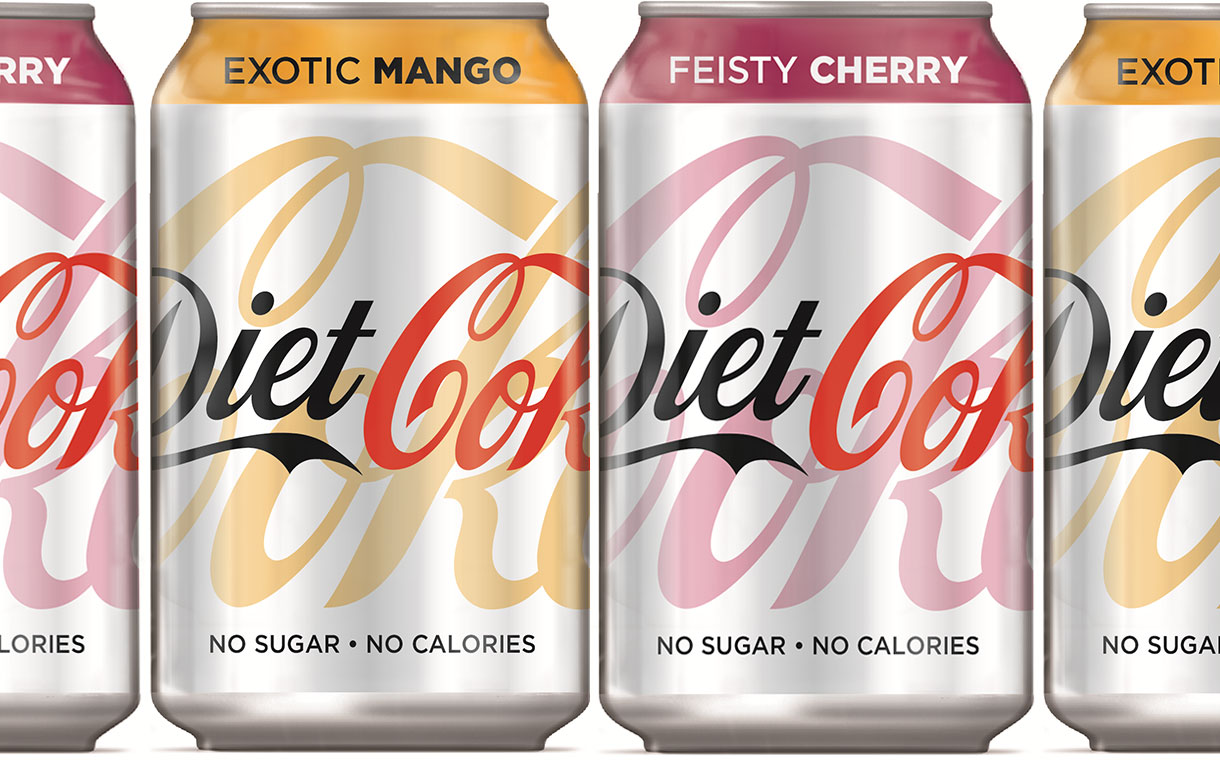 Diet Coke Ccep Introduces Exotic Mango And Feisty Cherry Diet Coke Foodbev