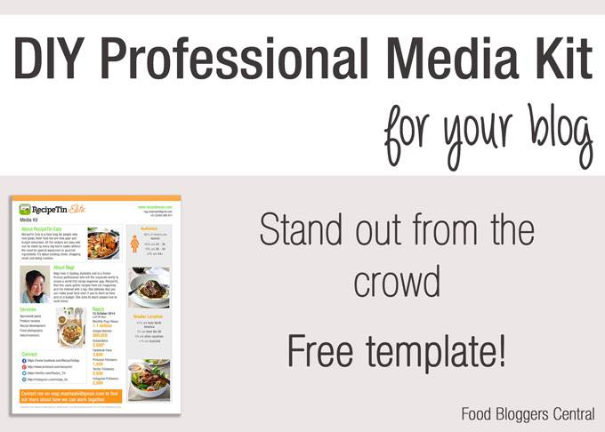 FREE Media Kit Template Food Bloggers Central