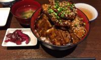 神田デカ盛りランチ魚串さくらさく炭火豚丼ご飯特盛肉増し居酒屋9