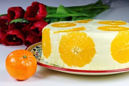 Orange Cream Cake   Tort de Portocale