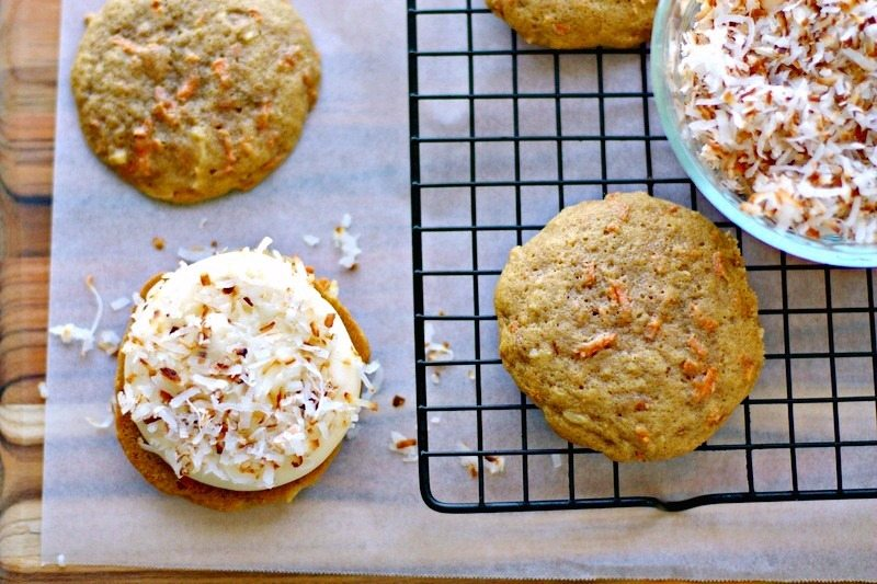 Carrot Cake Whoopie Pies Recipe with Coconut 5