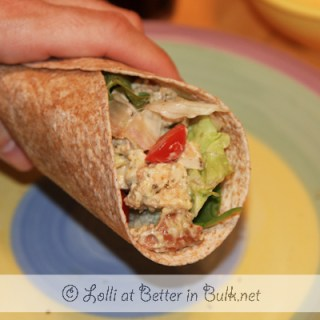 Pesto Chicken Salad Wraps