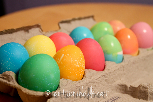 traditional dyed Easter eggs